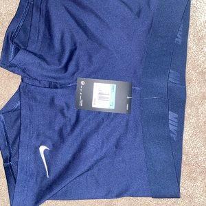 New navy blue Nike Spandex Shorts